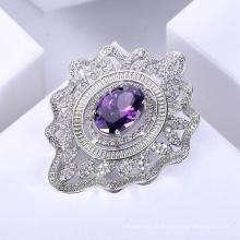 dernières broches de mode modernes de diamant de conception pour des femmes