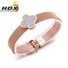 Ladies Fashion Jewelry Stainless Steel Four Leaf Clover Bracelet