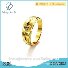 Hot sale high polished antique style gold plated engagement rings