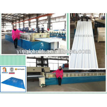 LS-1000-840 automatic color steel glaze flat roof tile sheet roll forming making machine