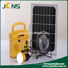 Energía eléctrica solar con 2 luces con radio