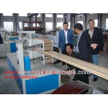 máquina plástica del suelo del wpc del compuesto de madera