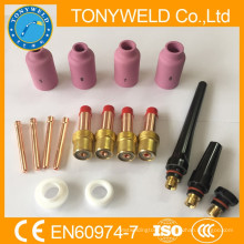 17 pieces tig welding parts kits for wp18 /wp17 tig welding