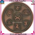 Moneda de metal con 2 logotipos laterales Grabado