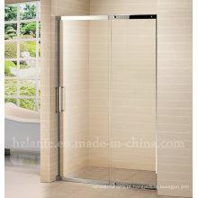 Porta de chuveiro de vidro de aço inoxidável de design europeu (LTS-026)
