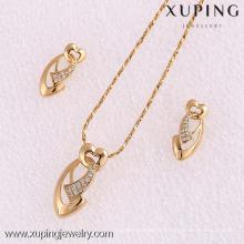 61960-Xuping Moda Mulher Jewlery Set com Banhado a Ouro 18K