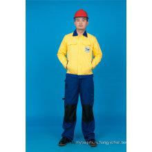 65% полиэстер 35%высокое качество хлопка с длинным рукавом дешевые безопасности костюм спецодежды (BLY2008)