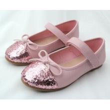 Nouveau modèle enfants enfants fille bowknot école robe simples chaussures