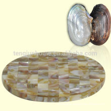 river shell cup mat home decoration for cup coaster