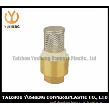 Brass Vertical Check Valve, with Stainless Steel Strainer (YS7004)