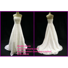 Neueste echte Bilder Hochzeitskleider Designs Backless trägerlosen Brautkleider BYB-14596