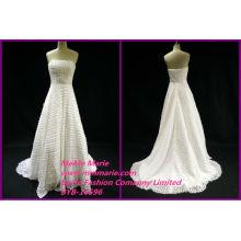 Последний реальные фотографии свадебные платья конструкции спинки без бретелек свадебные платья БЫБ-14596