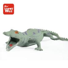 Brinquedos shantou por atacado tpr brinquedo de borracha de crocodilo de borracha fabricado na China