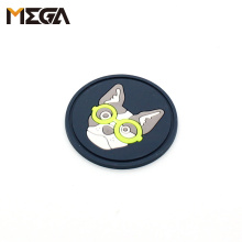 Factory High Quality Custom Embossed 3D PVC Rubber Label Rubber Logo Patches Custom Clothing Labels