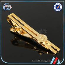 Clip de cravate en or de 60 mm (cl-53)