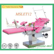 MSLET12M Lit de livraison de gynécologie Lit de livraison électrique à l'hôpital