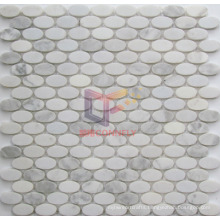Oval Shape Natural Marble Stone Mosaic (CFS1083)
