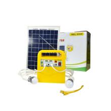 Sistema de iluminación solar con radio y salida USB para dispositivos móviles