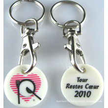 Bespoken Plastic Trolley Coin with Print Logo