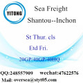 Shantou Port Sea Freight Shipping À Inchon