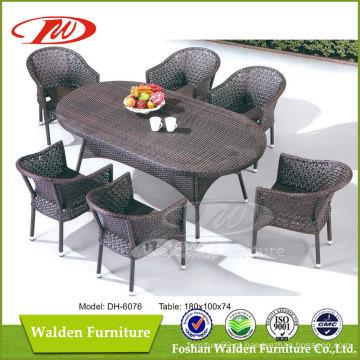Móveis de vime, mesa de jardim (DH-6076)