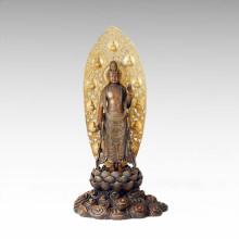Buddha-Statue Heilige Avalokitesvara Bronze-Skulptur Tpfx-073