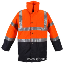 EN20471 rain jacket waterproof reflective safety jacket