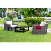 Ensemble de canapé en rotin en rotin synthétique en velours 2017 de bonne qualité pour meubles de jardin en plein air