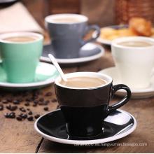 2016Haonai sistema de cerámica de la taza de café de China de hueso de la venta caliente nueva, taza de cerámica y placa debajo de ella, sistema de café de cerámica de la alta calidad