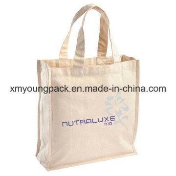 Eco Friendly Unbleached Plain Calico Reusable Tote Cotton Canvas Bag