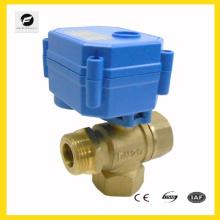 Válvula de desvío de agua de latón de 3 vías de 1/2 pulgada para el equipo de auto, calentador de agua de sistema solar de agua, aire acondicionado