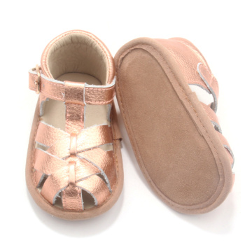 Confortable 0-24 mois en cuir Summer Girl Baby Sandals