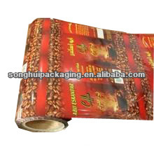 Filme de embalagem de café plástico Cusomized / filme de rolo de café laminado