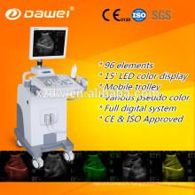 Échographie de chariot de la CE et d'OIN pour la gynécologie / obstétrique / urologie et échographe mobile fait en vente chaude de la Chine