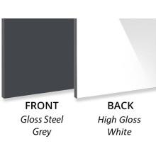 Panneau composite en aluminium décoratif gris acier brillant 3MM