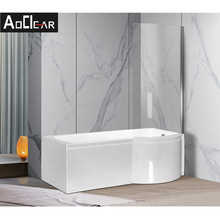 Aokeliya acrylic bath tub liner with shower fitter and custmise service