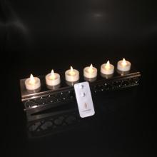 Satz von 6 Luminara wiederaufladbare flammenlose beweglichen Docht Teelicht Kerze