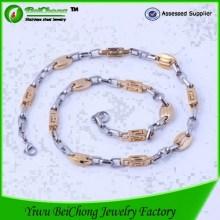 Italien Style Edelstahl Gold Kette Halskette