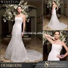 Latest Style High Quality puff sleeve wedding dress