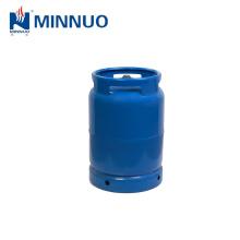 Venda direta da fábrica 10 kg cilindro de gás GLP, tanque de propano, garrafa azul