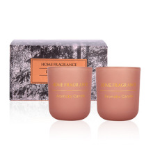 Wholesale Retro Cylinder Glass Cup Candle Private Label Soy Wax Scented Candle