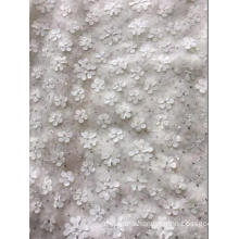 Tulle Mesh Laser Embroidery Fabric with Sequins