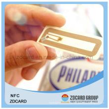 Pet RFID Смарт ПВХ Контакт / Бесконтактный IC-тег с чипом