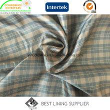 100% Polyester Men′s Jacket Tartan Patterned Liner Lining China Supplier
