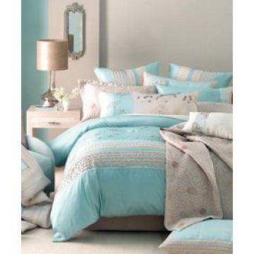 Tröster Bettbezug gedruckt grau Bettwäsche-Set für zu Hause