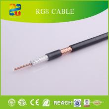Câble coaxial de 50 Ohm Rg8 RoHS Atteint l'approbation CE)
