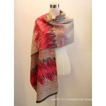 Леди мода вискоза Жаккардовые бахромой платок (YKY4414-1)