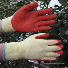 10g Polyester beschichtete Crinkle Latex Handschuhe Impact Work Handschuh