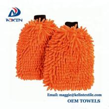 2018 New Style Chenille Car Washing Mitt Towel Glove - ORANGE