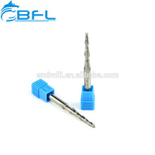 BFL-2 Flute Solid Carbide Taper Ball Nose Milling Cutter Wood